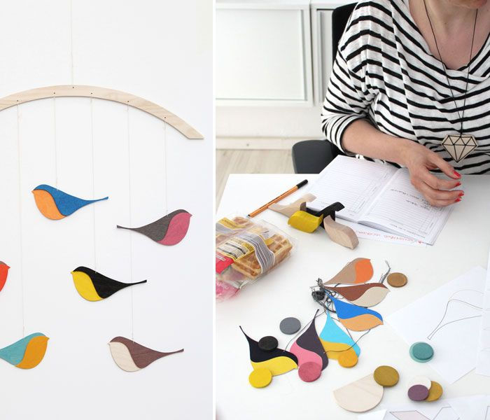 When Berit and Kerstin from snug studio send me an email about their new product: the songbirds mobile I knew imedeatly i wanted to start this week with showing you... the mobile is so sweet, but not too sweet, simple...