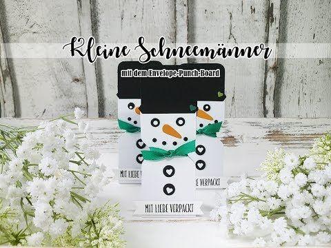 Kleine Schneemänner aus Papier | Verpackung für Ferrero Küsschen | Goodies | Mitbringsel - YouTube