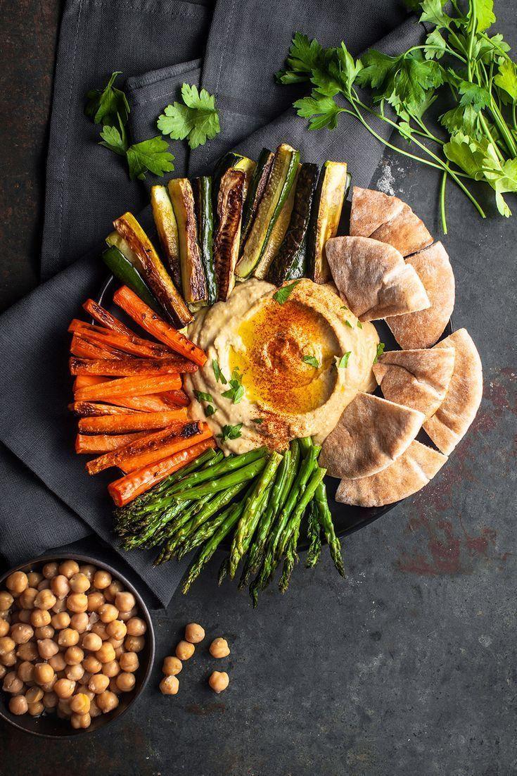 Tazón Hummus de primavera con verduras asadas – #des #food # Spring …   – Foodistas – Healthy Food