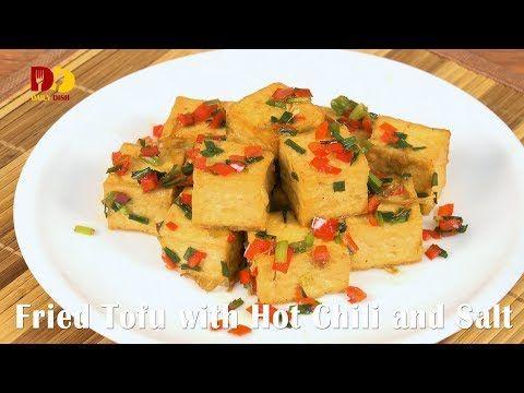 Fried Tofu with Hot Chili and Salt Tofu 350 g Oil ½ tbsp Coriander root 1 tsp Red chili 2 tbsp Spring onion 2 tbsp Five spice powder ¾ tsp Salt ½ tsp Water 1 tbsp Source: Youtube