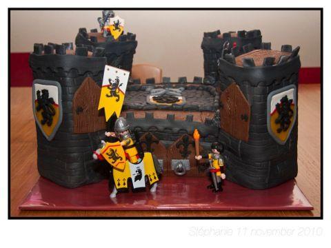 Playmobil kasteel taart - Wessel 4 jaar | Taarten | www.tirel.nl