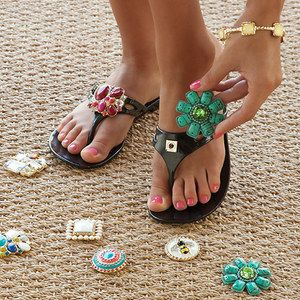 When Lindsay Phillips made ceramic flip-flops as a high school art project, she had no idea that she was starting a footwear brand. The people around her loved her design, so she moved from ceramic to functional flip-flops with colorful straps, each with their own unique button. Soon, she realized she could make the buttons interchangeable. That's how SwitchFlops began.