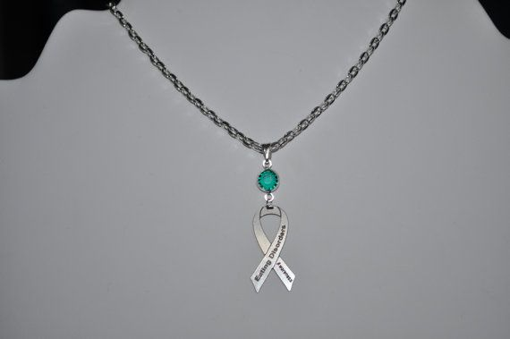 Eating disorder awareness necklace pick your color for Jewelry that supports a charity