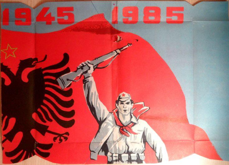 Albanian propaganda poster.