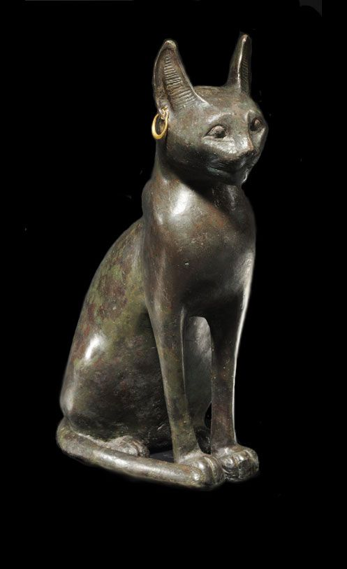 Ancient Egypt bronze cat