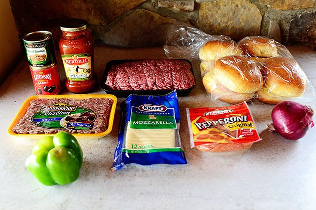 Pepperoni Pizza Burgers   The Pioneer Woman Cooks   Ree Drummond