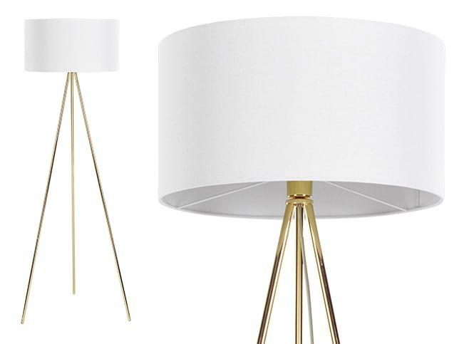 Frances Tripod Floor Lamp, Brass