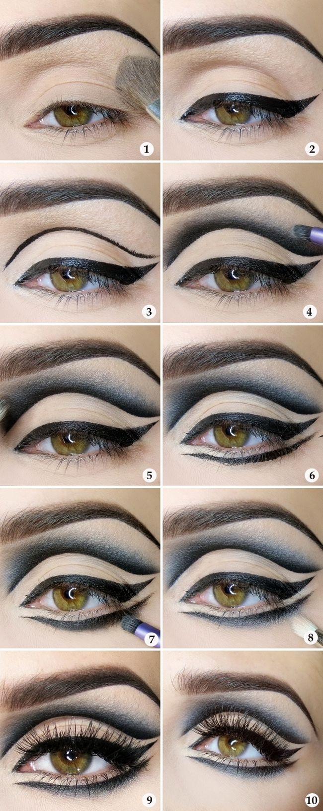 Image result for silver shadow and dramatic eyeliner