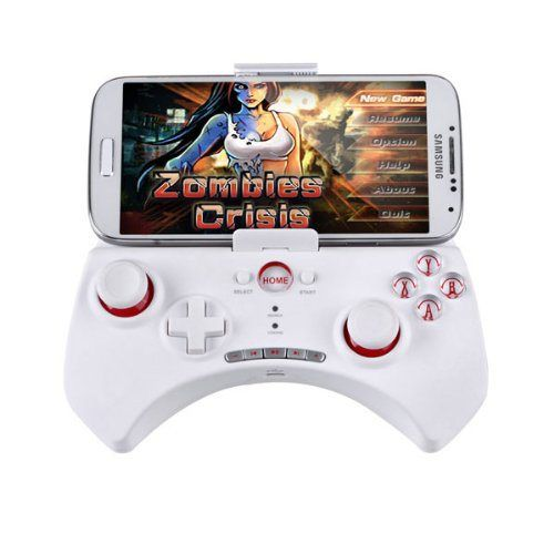 Bluetooth Wireless Game Controller Gamepad, White for Smartphone/iOS iPhone/iPod/iPad/Android Phone/Tablet PC/Samsung