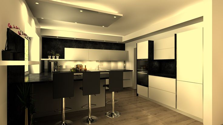 Diese Küche wird in Essen (Oldenburg) montiert. Sie besticht durch eine schlichte moderne Optik und Ihrer grifflosen Planung. Kombiniert mit der in Steinoptik gehaltenen Arbeitsplatte und Nischenverkleidungen /Wandverkleidungen wirkt sie sehr modern. Dazu kommt der Trockenbau, der die gesamte Küche umschließt, sowie die indirekte Beleuchtung. Die Strahler in dem Trockenbau über der Insel machen das Kochen hier zu einem Vergnügen. #modern #moderneküche #küche #grifflos #muldenlüfter…
