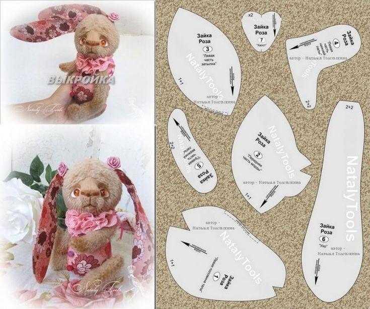 Выкройка зайки Розы - Ярмарка Мастеров - ручная работа, handmade