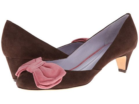 Johnston and Murphy Anita Bow Pump (Chocolate and Pink Suede) for $39 http://sylsdeals.com/johnston-and-murphy-anita-bow-pump-chocolate-and-pink-suede-for-39/