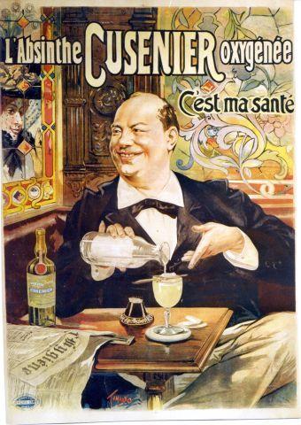 Tamagno - Absinthe Cusenier oxygénée - 1896 vintage poster