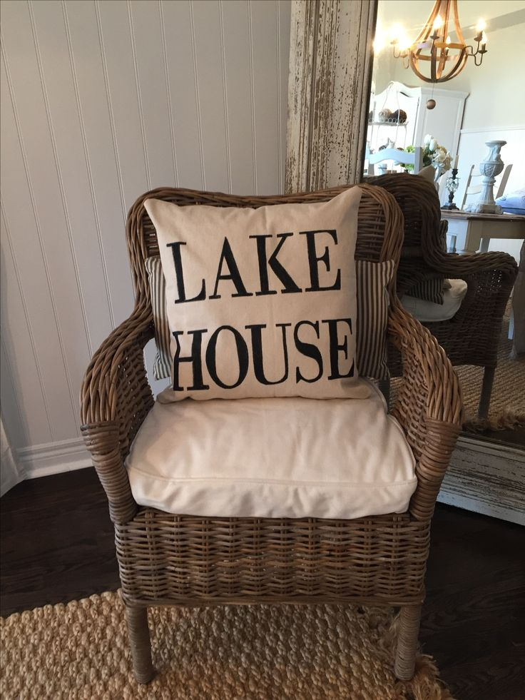 lake house diy pillow
