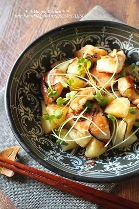 鶏むね肉とじゃがいもの柚子胡椒マヨ塩昆布和え*と、鳥取旅行1日目|レシピブログ