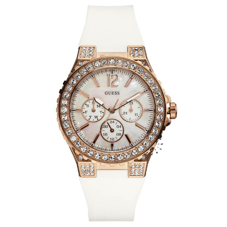 GUESS Callendar White Rubber Strap Η τιμή μας: 195€ http://www.oroloi.gr/product_info.php?products_id=26019