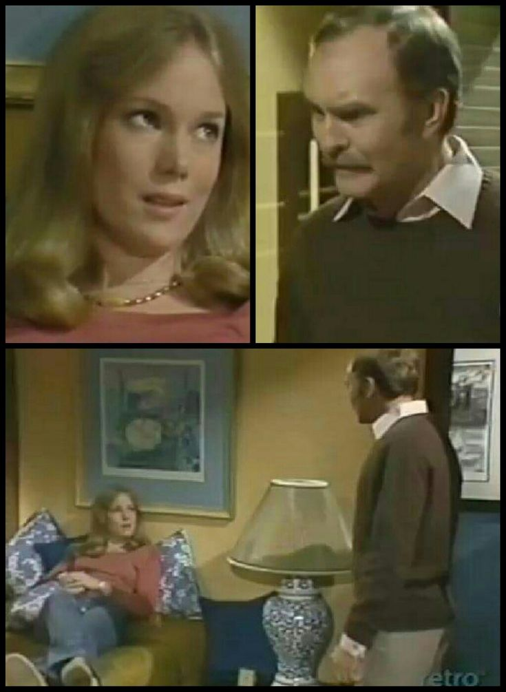 Penny Davis (Julia Duffy) and her dad, Dave Davis (Richard Clarke) in 1975: