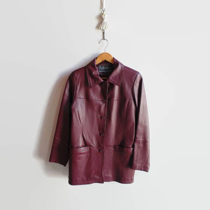 Excited to share the latest addition to my #etsy shop: Burgundy Faux Leather Jacket for Women - 90s Vintage Clothes http://etsy.me/2FPCGTi #clothing #women #jacket #red #womenjacket #90sclothes #vintagejacket #vintageclothing #size8usa