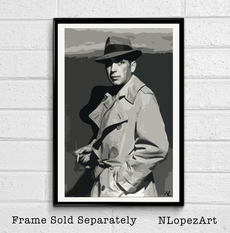 Rick Blaine Humphrey Bogart Casablanca Pop Art Poster Print #3 Size 11 x 17 for $15 + S&H. This order is printed on high quality 110lb card stock paper. Check it out at (https://www.etsy.com/listing/205199472/rick-blaine-humphrey-bogart-casablanca)
