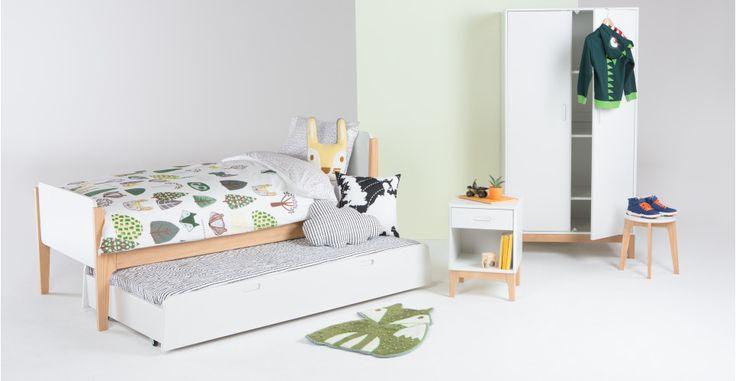 Linus Single Bed, Pine and White | made.com