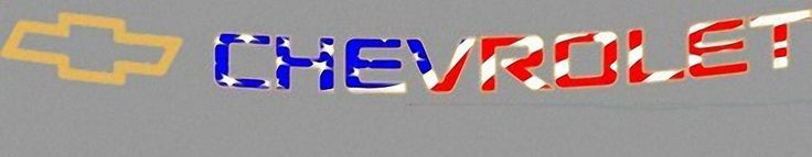 Patriotic windshield decal for 2002 to 2014 Chevy Avalanche, Tahoe, Suburban