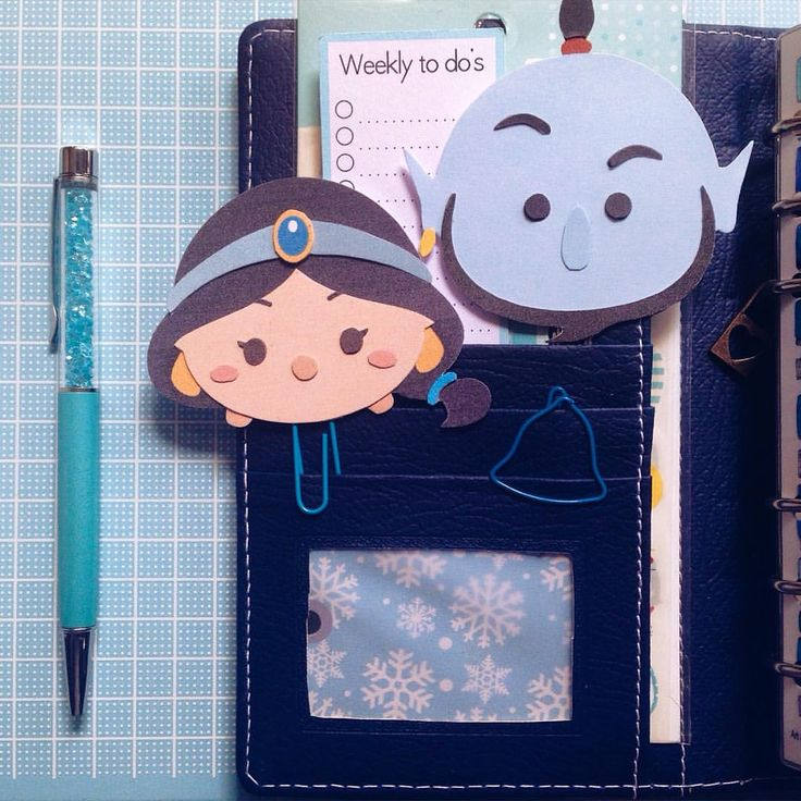 My whole new world of paperclips  Made this diy Tsum Tsum paperclips using SVG file from the Kraft Nook
