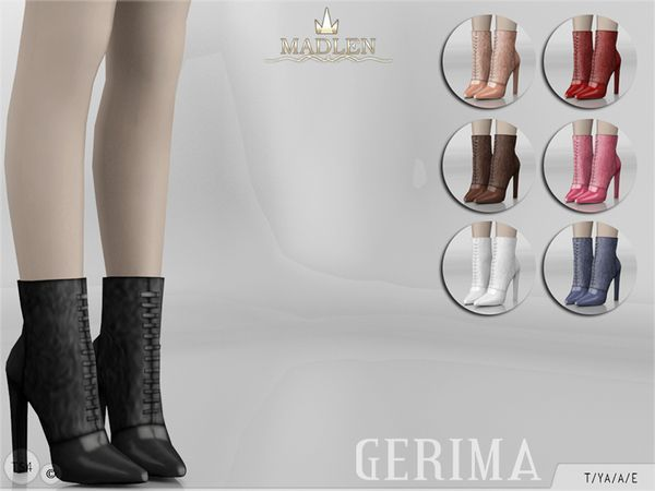 The Sims Resource: Madlen Gerima Boots by MJ95 • Sims 4 Downloads