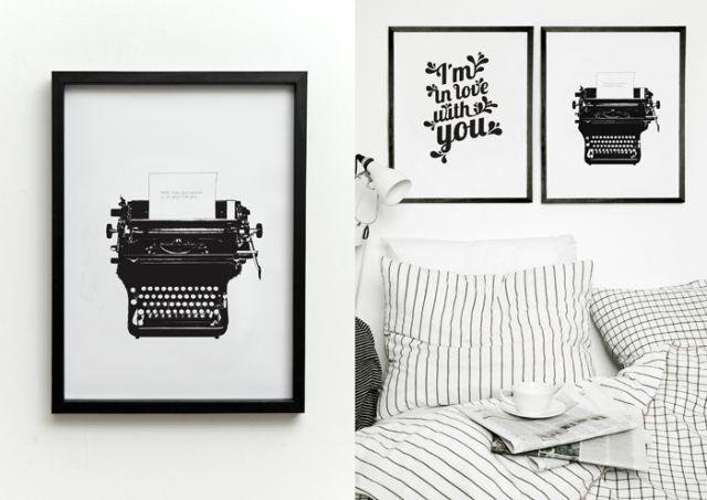 Póster Typed Love Print de One Must Dash. ¡Dale una nueva imagen a tu casa! #oneMustDash #poster #lamina #print #artPrint #decoration #decoracion #estiloescandinavo #scandinavian #estilonordico