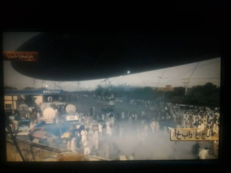 Arrival a film about language used Arabic words in a scene showing a Pakistani news broadcast. On top of that the words were written backwards.