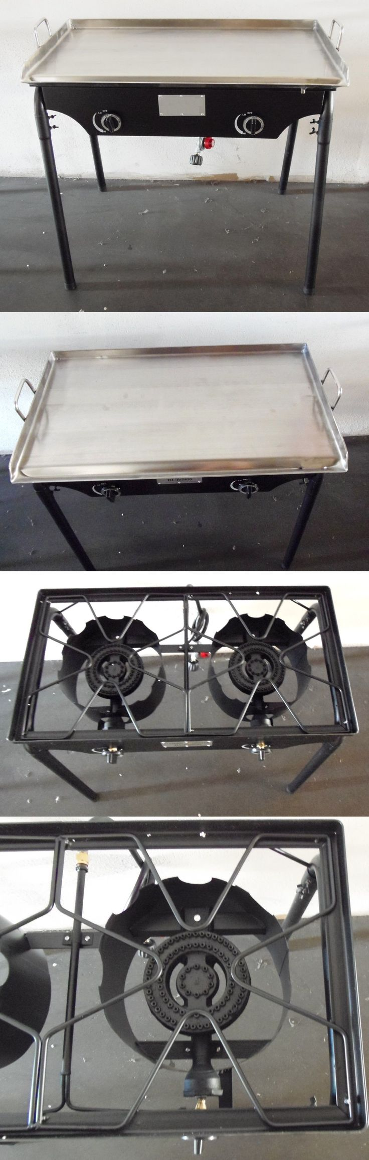 Grills and Griddles 20675: Heavy 32 X 17 Wide Stainless Steel Flat Top Griddle Grill Double Burner Stove -> BUY IT NOW ONLY: $195 on eBay!