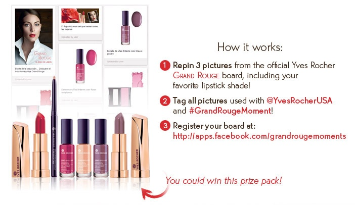 Enter our Grand Rouge Pinterest Contest! You could win a great Grand Rouge prize!  @Yves Rocher USA  #GrandRougeMoment