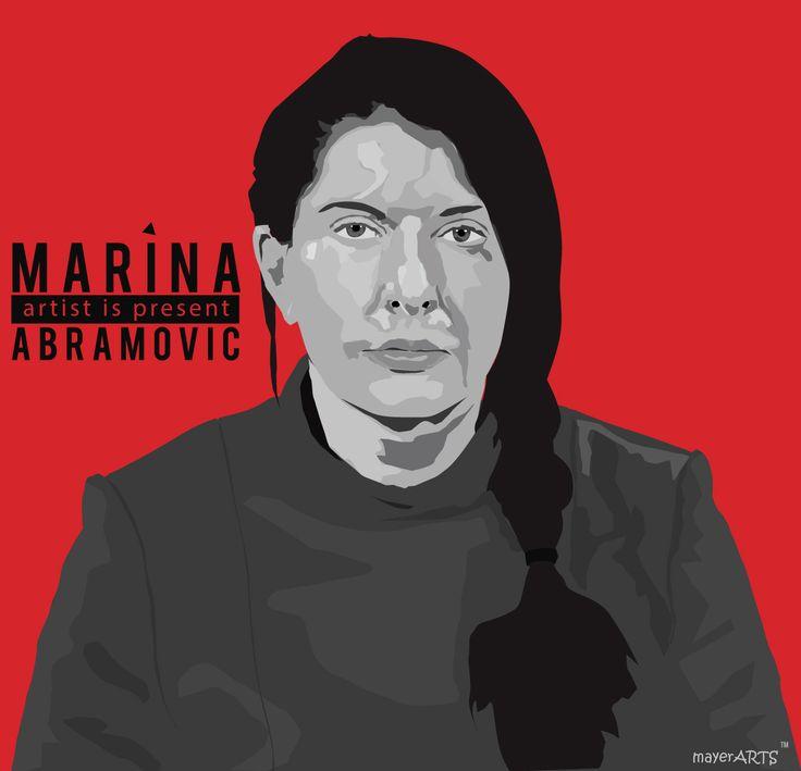 Marina Abramovic - illustrazione realizzata con tavoletta Intuos della wacom