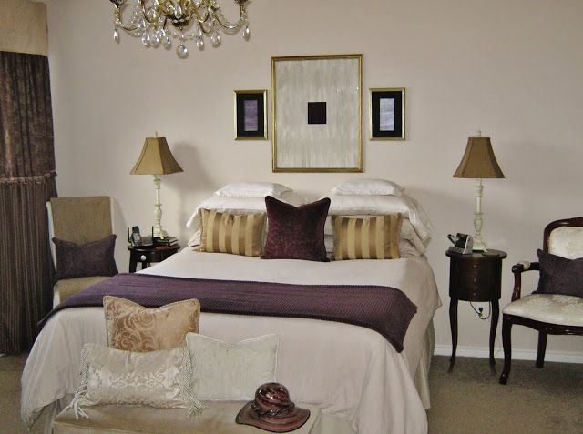 Purple and gold bedroom future home pinterest - Purple and gold bedroom ...
