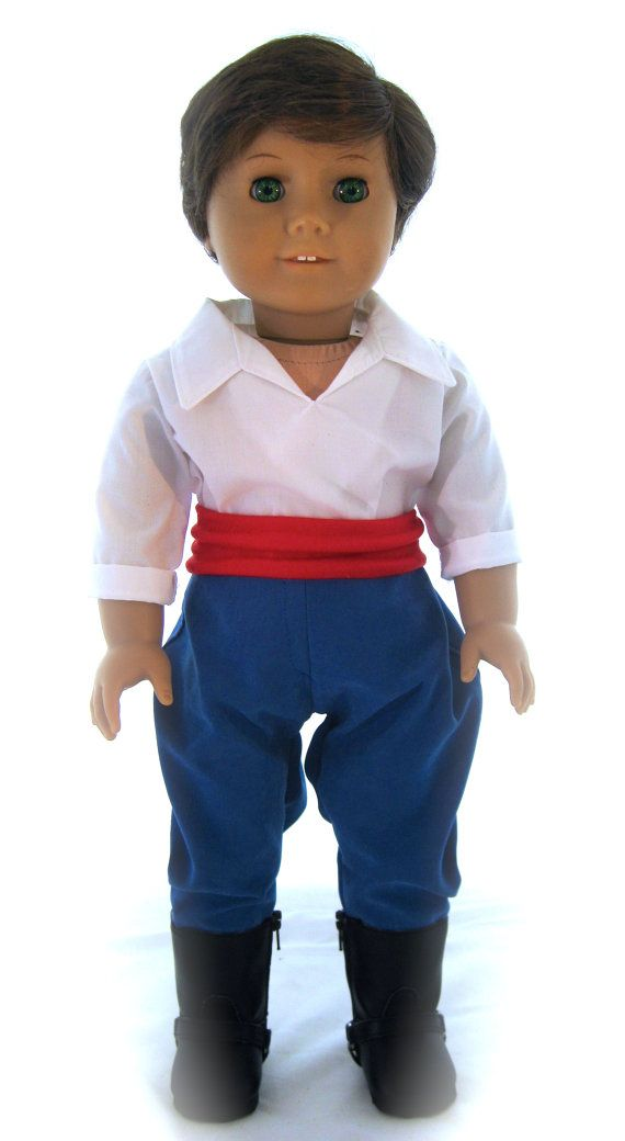 American Girl Sized  Prince Eric Costume From by enchanteddesigner