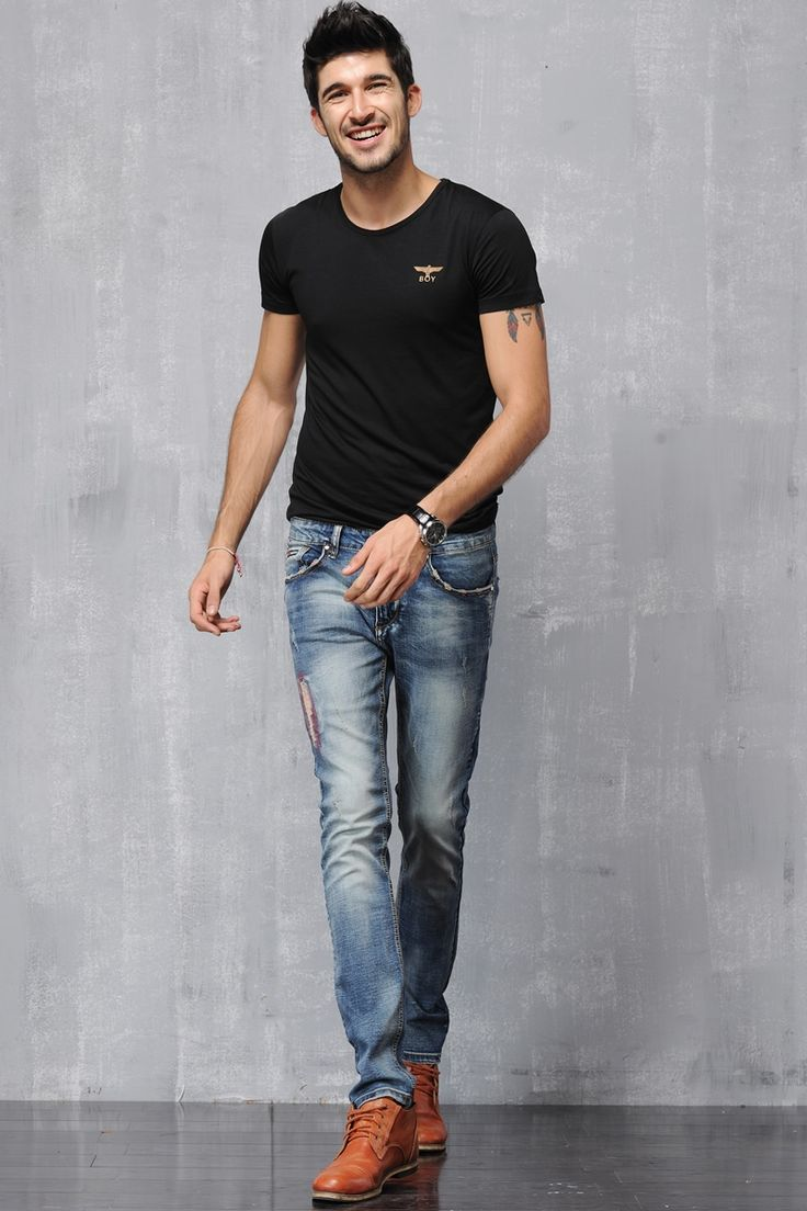 (26.84$)  Watch here - http://ailpv.worlditems.win/all/product.php?id=32582021988 - New mens skinny  jeans  ripped jeans  biker  hip hop  jeans pantalones vaqueros hombre straight hole jeans#YZ86870