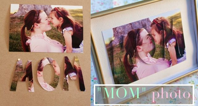 """Mom"" 3D Photo: 3 D Photo, Photos, Craft, Stuff, Mom Photo, Photo Idea"