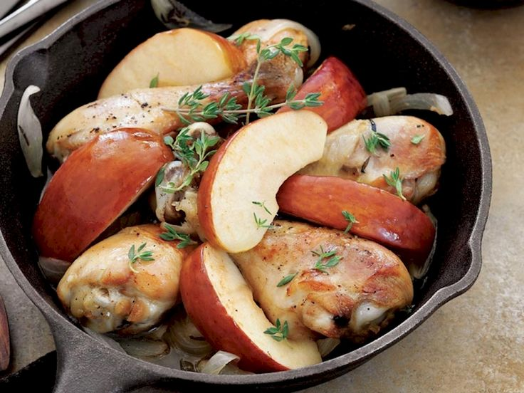 Fırında elmalı tavuk baget