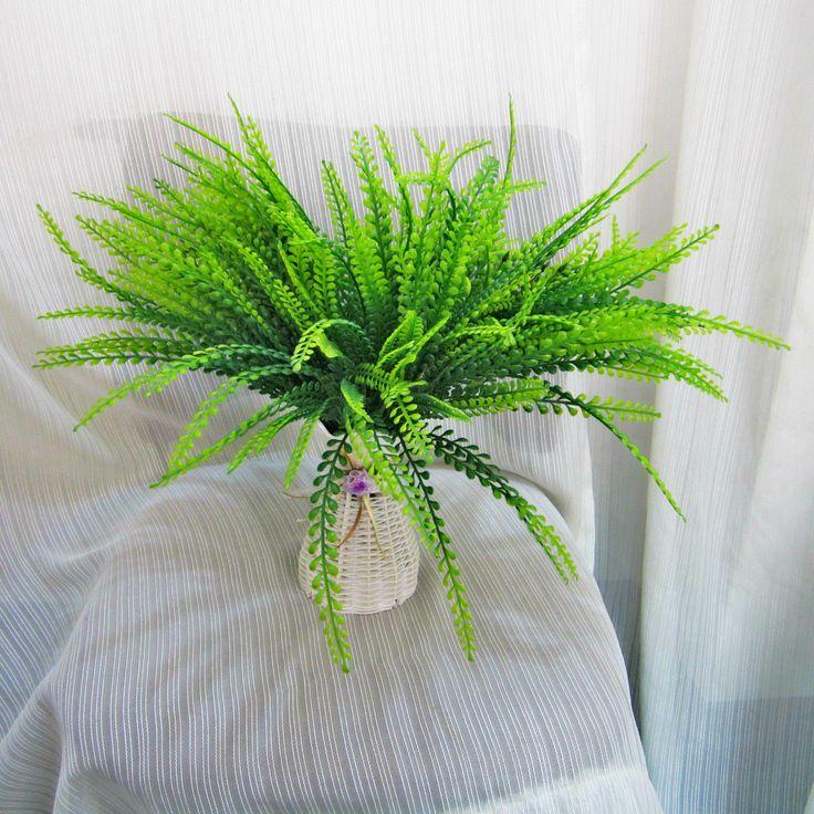 Искусственный папоротник Искусственный завод стены Декоративные листья Искусственные водные растения