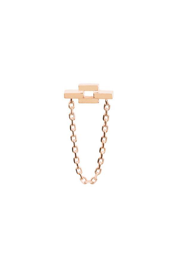 AURORE CHAIN EARRING - ROSE GOLD