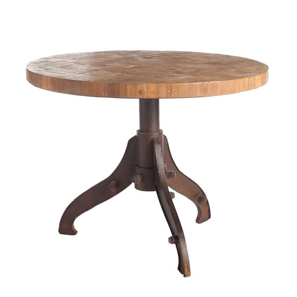 Pedestal end table wood woodworking projects plans for Cast iron table ends