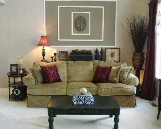 The dreaded wall behind the couch! Love this idea!