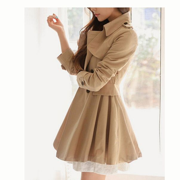 Slim Double-Breasted Long Trend Coat Jacket Outwear