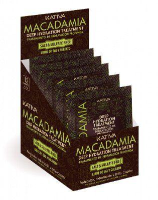 Маска для нормальных и поврежденных волос Интенсивно увлажняющая MACADAMIA Kativa, 35 гр.*12 шт. от Kativa за 139 руб!