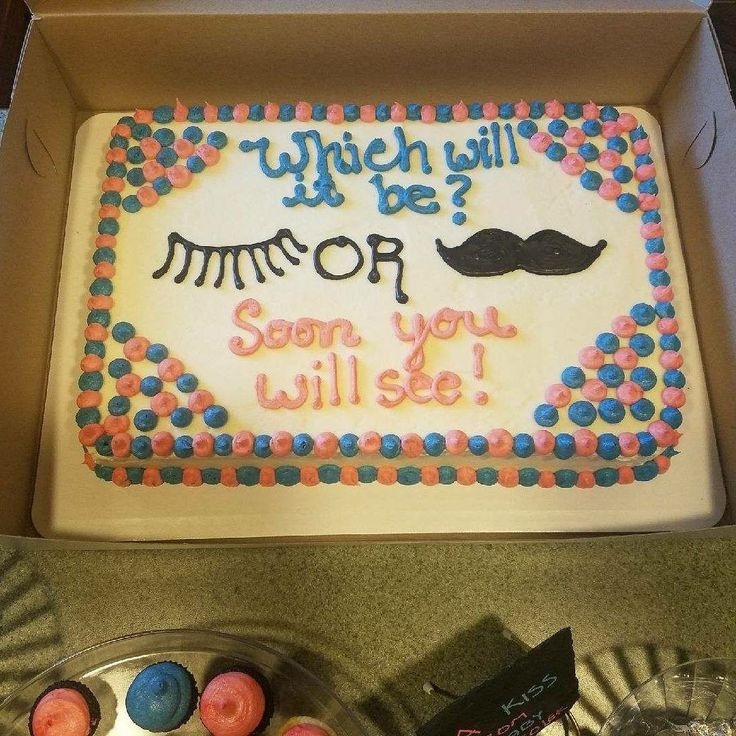 Staches And Lashes Cake