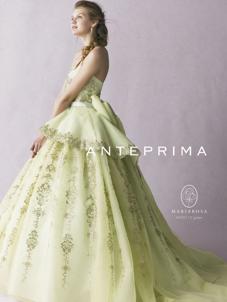 アクア・グラツィエがセレクトした、ANTEPRIMA(アンテプリマ)のウェディングドレス、ANT0110をご紹介いたします。