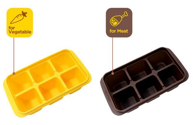 Mother's Corn Silicone Freezer Cubes | Yellow for VEGES || Brown for MEAT