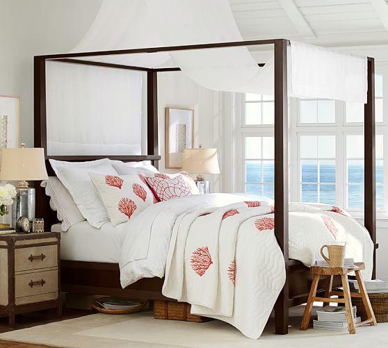 Farmhouse Canopy Bed & Chifforobe Set | Pottery Barn - Best 25+ Farmhouse Canopy Beds Ideas On Pinterest Rustic Canopy