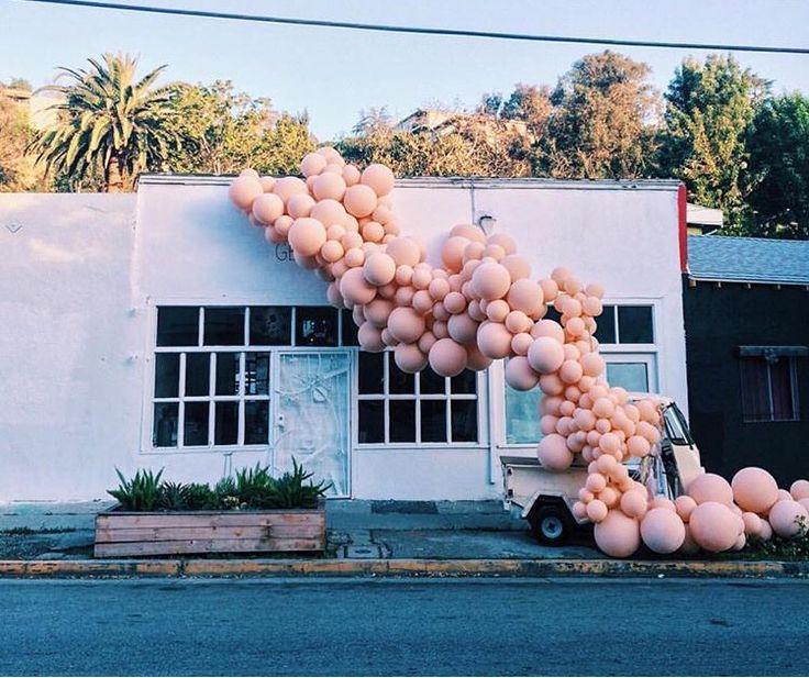 balloon installation by Geronimo. Photo via Joy Cho.