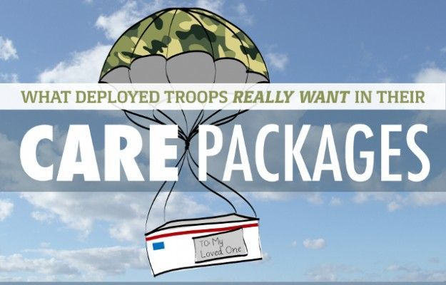 good to know list for anyone who can send a care package to the troops. [Veterans United]