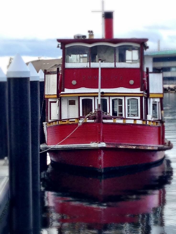 "Hobart, Tasmania.""Emma Lisa"" plys the Derwent River"